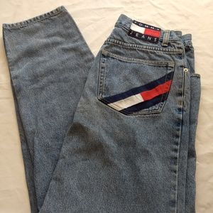 Vintage Tommy Hilfiger Mens Jeans Big Flag